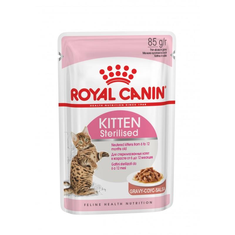 Купить Royal Canin Kitten Sterilised для стерилизованных котят кусочки в соусе в паучах - 85 г Royal Canin в Калиниграде с доставкой (фото)