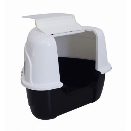 Туалет для кошек закрытый угловой MPets, 60х50х44 см