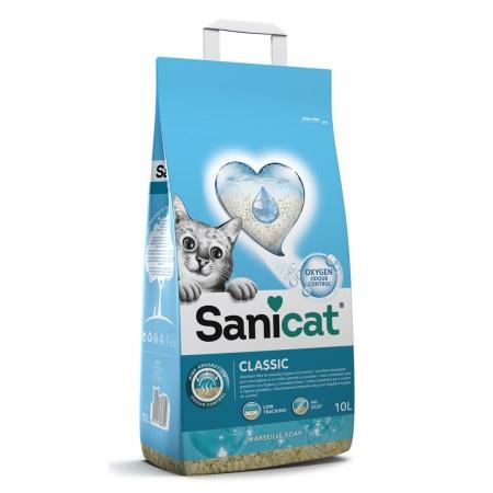 SaniCat наполнитель с активным кислородом с ароматом марсельского мыла, Oxygen Power Clean 10 л