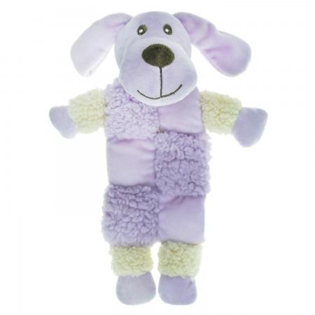 AROMADOG Игрушка для собак Собачка 20 см с 3 пищалками сиреневая